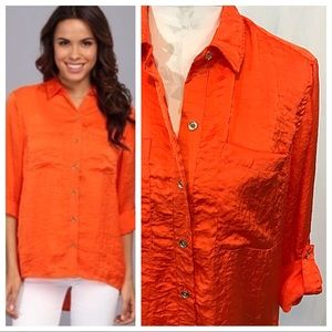 Michael Kors Orange Button-Down